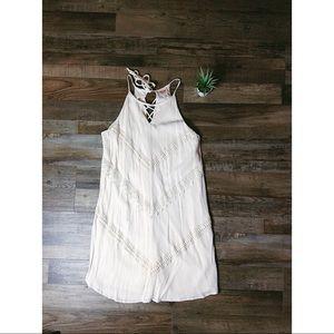 Mossimo White Lace Tank Dress